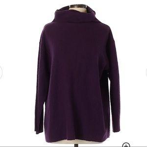 Eileen Fisher Purple Mock Neck Sweater